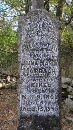 MARBACH, ANNA MARIA (CLOSE UP) - Comal County, Texas | ANNA MARIA (CLOSE UP) MARBACH - Texas Gravestone Photos