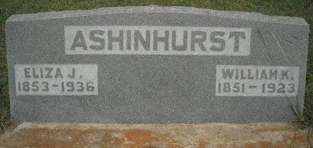 "MCGILL ASHINHURST, ELIZABETH JANE ""ELIZA"" - Comanche County, Texas | ELIZABETH JANE ""ELIZA"" MCGILL ASHINHURST - Texas Gravestone Photos"