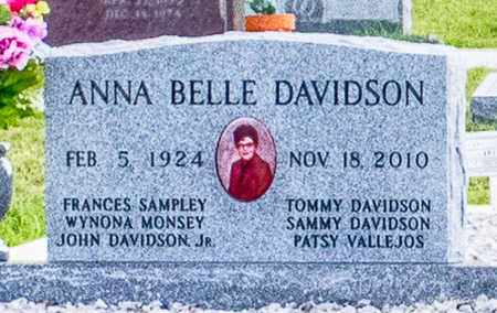 DAVIDSON, ANNA BELLE - Comanche County, Texas | ANNA BELLE DAVIDSON - Texas Gravestone Photos