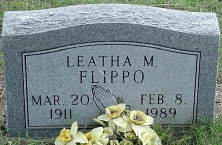 FLIPPO, LEATHA M.  - Comanche County, Texas   LEATHA M.  FLIPPO - Texas Gravestone Photos