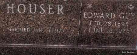HOUSER, EDWARD GUY - Comanche County, Texas   EDWARD GUY HOUSER - Texas Gravestone Photos