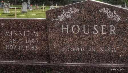 HOUSER, MINNIE M - Comanche County, Texas   MINNIE M HOUSER - Texas Gravestone Photos
