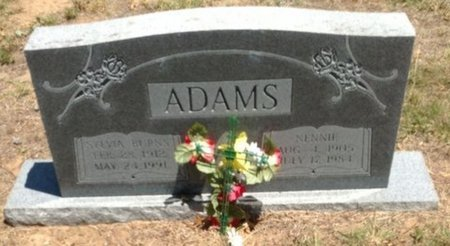 ADAMS, NENNIE - Cooke County, Texas | NENNIE ADAMS - Texas Gravestone Photos