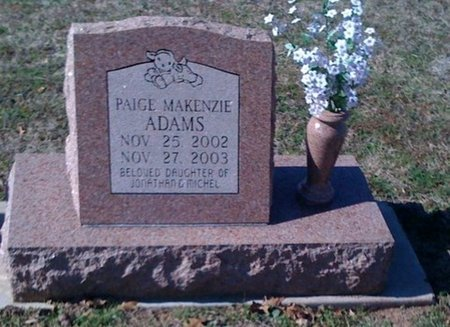 ADAMS, PAIGE MAKENZIE - Cooke County, Texas | PAIGE MAKENZIE ADAMS - Texas Gravestone Photos