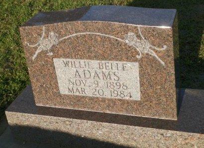 ADAMS, WILLIE BELLE - Cooke County, Texas | WILLIE BELLE ADAMS - Texas Gravestone Photos