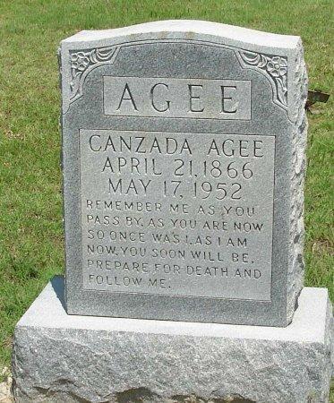 AGEE, PENELOPE CANZADA - Cooke County, Texas | PENELOPE CANZADA AGEE - Texas Gravestone Photos