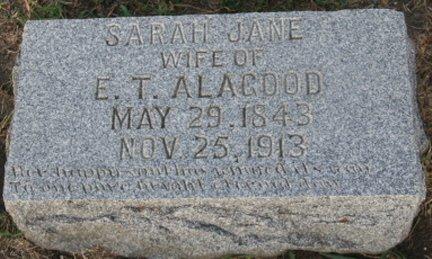 SHEPHARD ALAGOOD, SARAH JANE - Cooke County, Texas | SARAH JANE SHEPHARD ALAGOOD - Texas Gravestone Photos