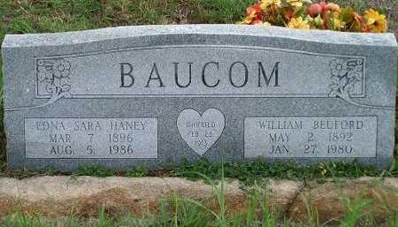 HANEY BAUCOM, EDNA SARA - Cooke County, Texas | EDNA SARA HANEY BAUCOM - Texas Gravestone Photos