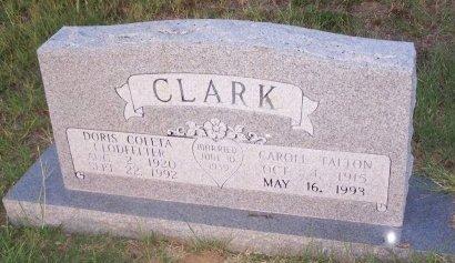 CLARK, CAROLL TALTON - Cooke County, Texas | CAROLL TALTON CLARK - Texas Gravestone Photos