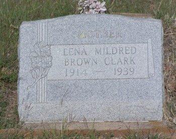 CLARK, LENA MILDRED - Cooke County, Texas | LENA MILDRED CLARK - Texas Gravestone Photos
