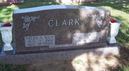 "CLARK, MILES THOMAS ""BUDDIE"" - Cooke County, Texas | MILES THOMAS ""BUDDIE"" CLARK - Texas Gravestone Photos"