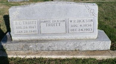 TRUITT, FANNIE DICKSON - Cooke County, Texas | FANNIE DICKSON TRUITT - Texas Gravestone Photos