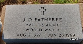 FATHEREE (VETERAN WWII), J. D. - Cooke County, Texas   J. D. FATHEREE (VETERAN WWII) - Texas Gravestone Photos