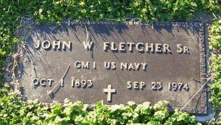 FLETCHER, SR. (VETERAN), JOHN WILLIAM - Cooke County, Texas | JOHN WILLIAM FLETCHER, SR. (VETERAN) - Texas Gravestone Photos