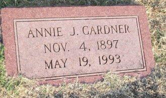 GARDNER, ANNIE J. - Cooke County, Texas | ANNIE J. GARDNER - Texas Gravestone Photos