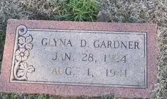 GARDNER, GLYNA D. - Cooke County, Texas | GLYNA D. GARDNER - Texas Gravestone Photos
