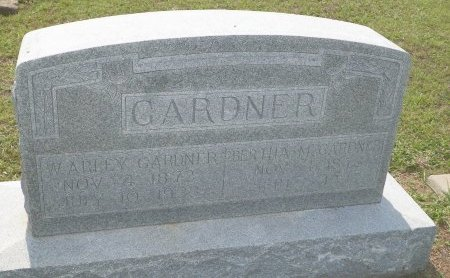 GARDNER, WILLIAM ARLEY - Cooke County, Texas | WILLIAM ARLEY GARDNER - Texas Gravestone Photos