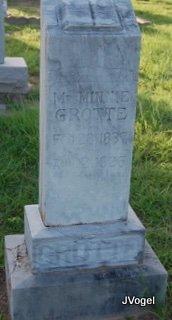 HYMAN GROTTE, MINNIE MARIE - Cooke County, Texas | MINNIE MARIE HYMAN GROTTE - Texas Gravestone Photos