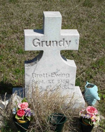 GRUNDY, BRETT EWING - Cooke County, Texas | BRETT EWING GRUNDY - Texas Gravestone Photos