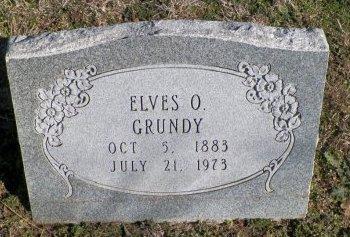 GRUNDY, ELVES OSBAND - Cooke County, Texas | ELVES OSBAND GRUNDY - Texas Gravestone Photos