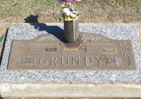 GRUNDY, WILLIE JO - Cooke County, Texas   WILLIE JO GRUNDY - Texas Gravestone Photos
