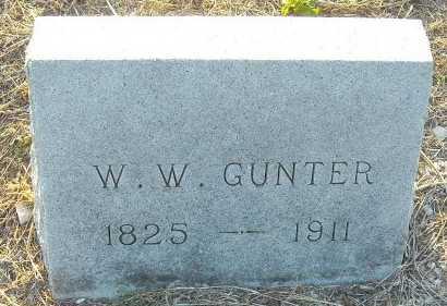 GUNTER, WILLIAM WASHINGTON - Cooke County, Texas | WILLIAM WASHINGTON GUNTER - Texas Gravestone Photos