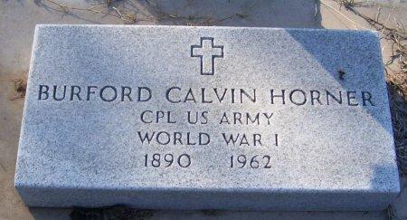HORNER (VETERAN WWI), BURFORD CALVIN - Cooke County, Texas | BURFORD CALVIN HORNER (VETERAN WWI) - Texas Gravestone Photos