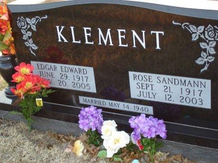 KLEMENT, EDGAR EDWARD - Cooke County, Texas | EDGAR EDWARD KLEMENT - Texas Gravestone Photos