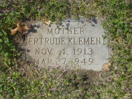 KLEMENT, GERTRUDE AGNES - Cooke County, Texas   GERTRUDE AGNES KLEMENT - Texas Gravestone Photos