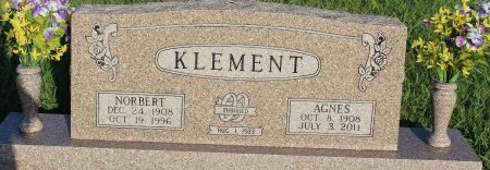 KLEMENT, AGNES - Cooke County, Texas | AGNES KLEMENT - Texas Gravestone Photos