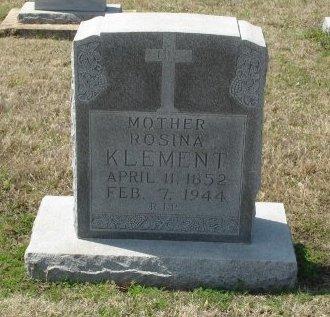 KLEMENT, ROSINA - Cooke County, Texas | ROSINA KLEMENT - Texas Gravestone Photos