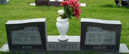 """KLEMENT, ROMAN JUSTIN """"RODY"""" - Cooke County, Texas 