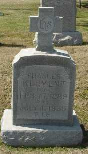 KLEMENT, FRANCES - Cooke County, Texas   FRANCES KLEMENT - Texas Gravestone Photos