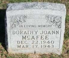 MCAFEE, DORATHY JOANN - Cooke County, Texas | DORATHY JOANN MCAFEE - Texas Gravestone Photos