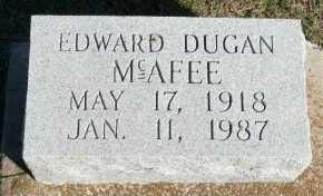 MCAFEE, EDWARD DUGAN - Cooke County, Texas | EDWARD DUGAN MCAFEE - Texas Gravestone Photos