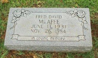 MCAFEE, FRED DAVID - Cooke County, Texas | FRED DAVID MCAFEE - Texas Gravestone Photos