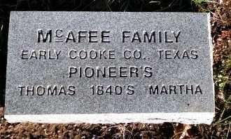 MCAFEE, MARTHA - Cooke County, Texas | MARTHA MCAFEE - Texas Gravestone Photos