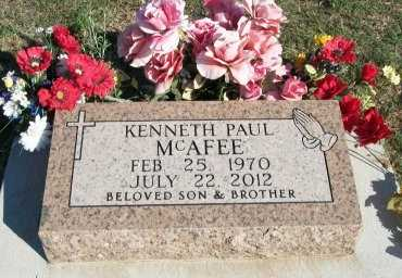 MCAFEE, KENNETH PAUL - Cooke County, Texas   KENNETH PAUL MCAFEE - Texas Gravestone Photos