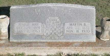 MCAFEE, MARTIN B. - Cooke County, Texas | MARTIN B. MCAFEE - Texas Gravestone Photos
