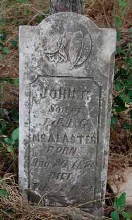 MCALASTER, JOHN - Cooke County, Texas | JOHN MCALASTER - Texas Gravestone Photos