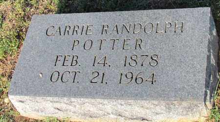RANDOLPH POTTER, CARRIE - Cooke County, Texas | CARRIE RANDOLPH POTTER - Texas Gravestone Photos