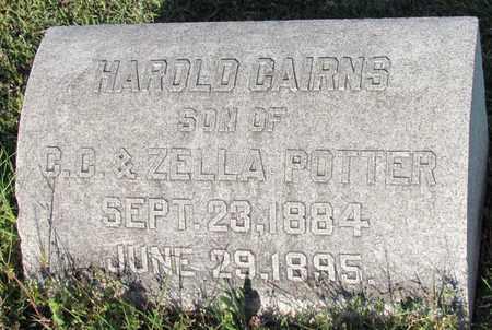 POTTER, HAROLD CAIRNS - Cooke County, Texas   HAROLD CAIRNS POTTER - Texas Gravestone Photos