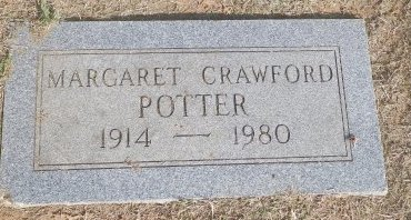 CRAWFORD POTTER, MARGARET ELIZABETH - Cooke County, Texas | MARGARET ELIZABETH CRAWFORD POTTER - Texas Gravestone Photos