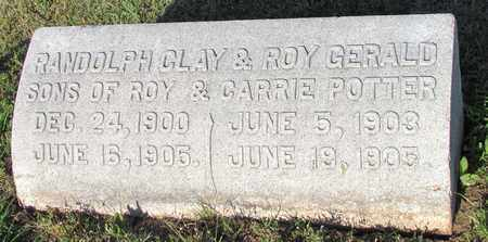 POTTER, RANDOLPH CLAY - Cooke County, Texas | RANDOLPH CLAY POTTER - Texas Gravestone Photos