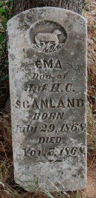 SCANLAND, EMA - Cooke County, Texas | EMA SCANLAND - Texas Gravestone Photos