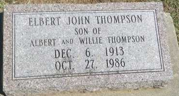 THOMPSON, ELBERT JOHN - Cooke County, Texas | ELBERT JOHN THOMPSON - Texas Gravestone Photos