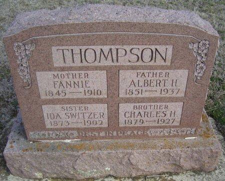 """THOMPSON, PARMILLA FRANCES """"FANNIE"""" - Cooke County, Texas   PARMILLA FRANCES """"FANNIE"""" THOMPSON - Texas Gravestone Photos"""