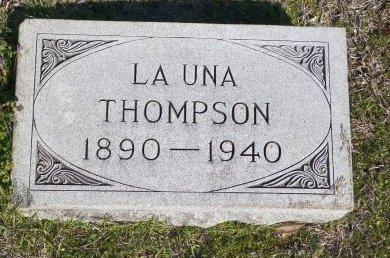 THOMPSON, LA UNA - Cooke County, Texas   LA UNA THOMPSON - Texas Gravestone Photos