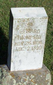 THOMPSON, LENARD - Cooke County, Texas   LENARD THOMPSON - Texas Gravestone Photos