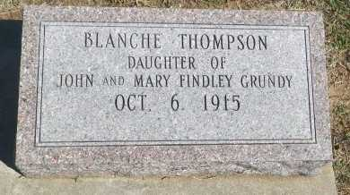 THOMPSON, VERA BLANCHE - Cooke County, Texas | VERA BLANCHE THOMPSON - Texas Gravestone Photos